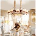 Европейские золотые Роскошные светодиодные люстры для гостиной  спальни  цинковый сплав  хрустальная люстра  E14 Свеча  люстра для ресторана ...