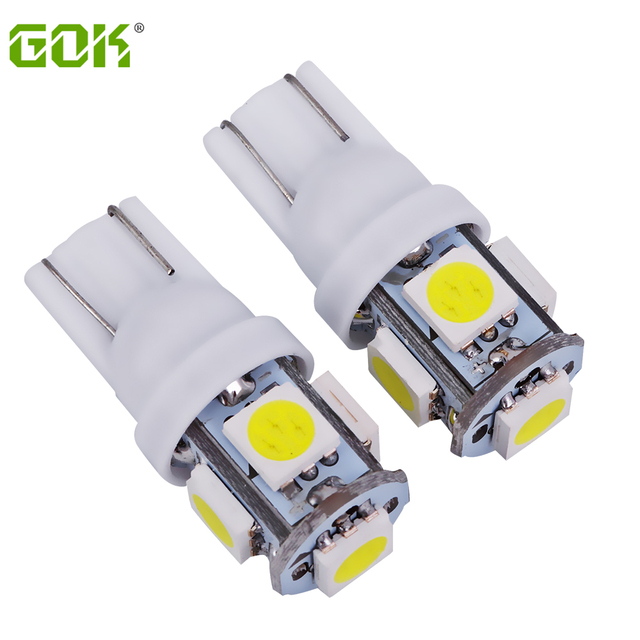 100 X T10 194 168 W5W 5smd 12V 5050 led t10 5LED Light Bulb  Parking Light auto led light Indicator Reading Lamp