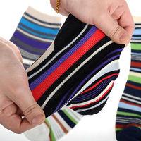 NEW Arrivals 5 Pairs Sets Mens Cotton Socks Lot Warm Multi Color Fancy Stripe Casual Autumn