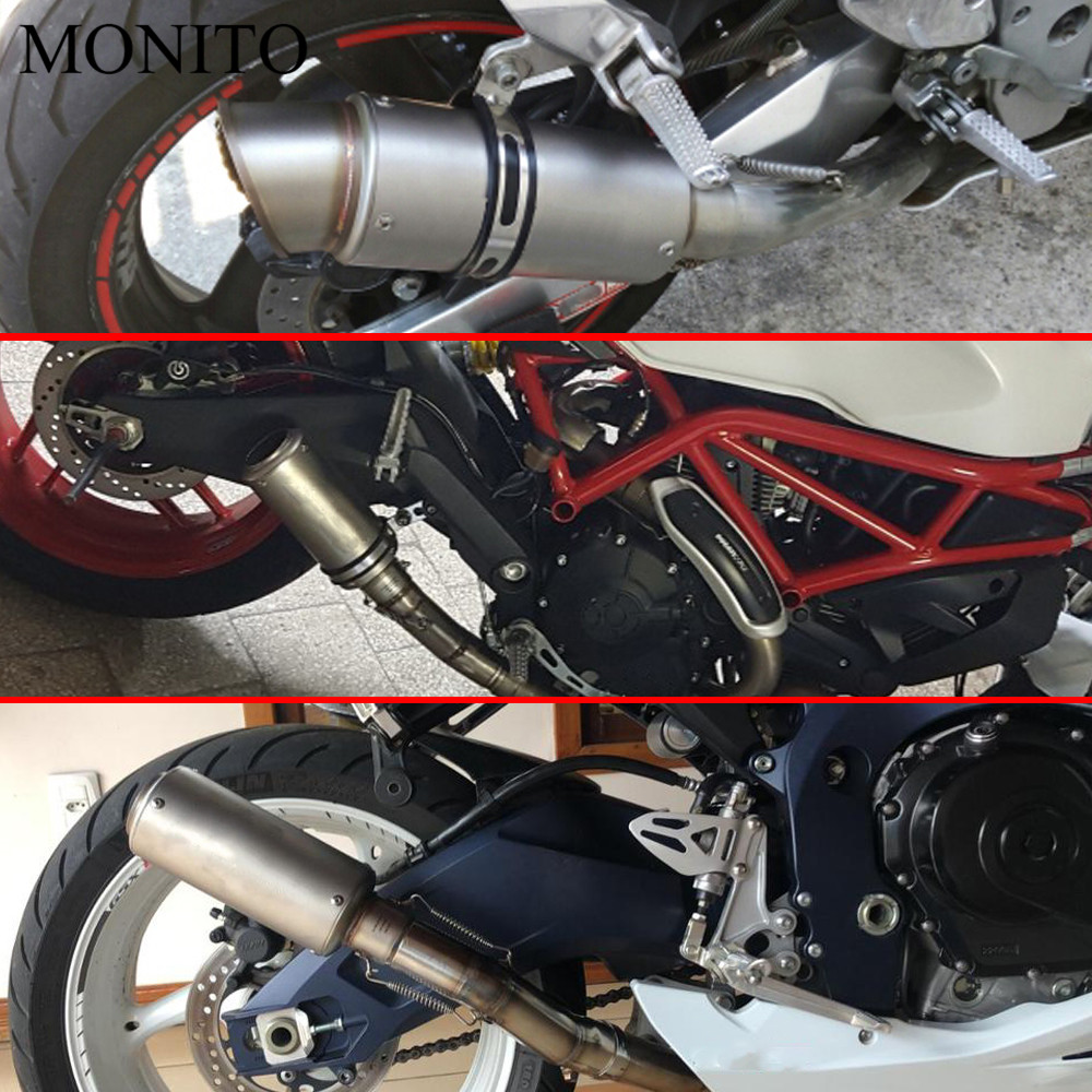 2019 Motorcycle SC exhaust escape Modified Exhaust Muffler DB Killer For BMW C400GT C600 C650 C650GT Sport F650GS F700GS F800R in Exhaust Exhaust Systems from Automobiles Motorcycles