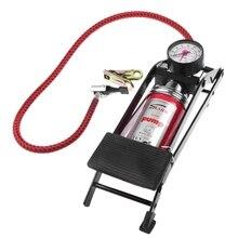 Auto Luftkompressor Hochdruck Fuß Luftpumpe Auto Styling Inflator Pumpe Auto Reifen Fahrrad Motorrad Presta Ventil Adapter