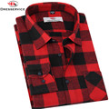 DRESSERVICE 2016 Hot New Men Plaid Long-sleeved Casual Shirts Flannel Slim Fit Chemise Homme Camisa Social Masculina Fashion