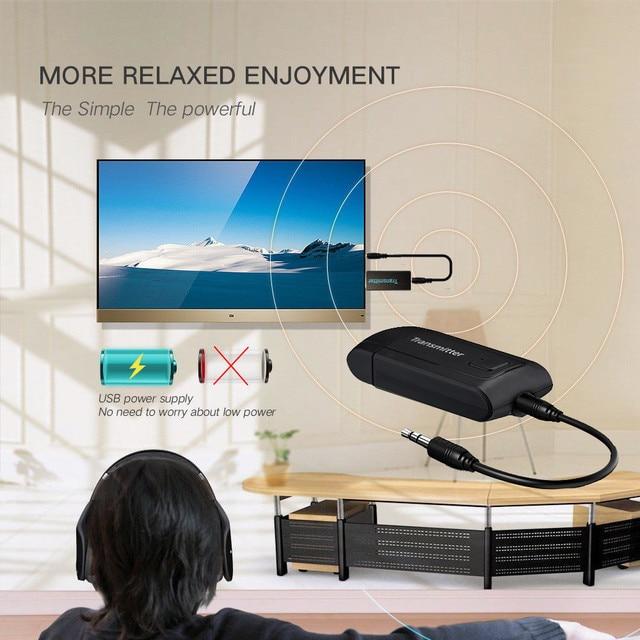 Bluetooth không dây Máy Phát Cho TV Điện Thoại PC Y1X2 Stereo Âm Thanh Âm Nhạc Adapter O.26