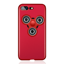 Iphone 7 Case with Fidget Spinner Toy Ultra Slim Matte PC Hard Phone Case for IPhone 7 Plus 6 6s plus