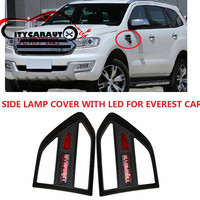 CITYCARAUTO Chromium Styling SIDE LAMPS COVER WITH LIGHTTING TRIMS STICKER COVER MATTE BLACK FIT FOR EVEREST