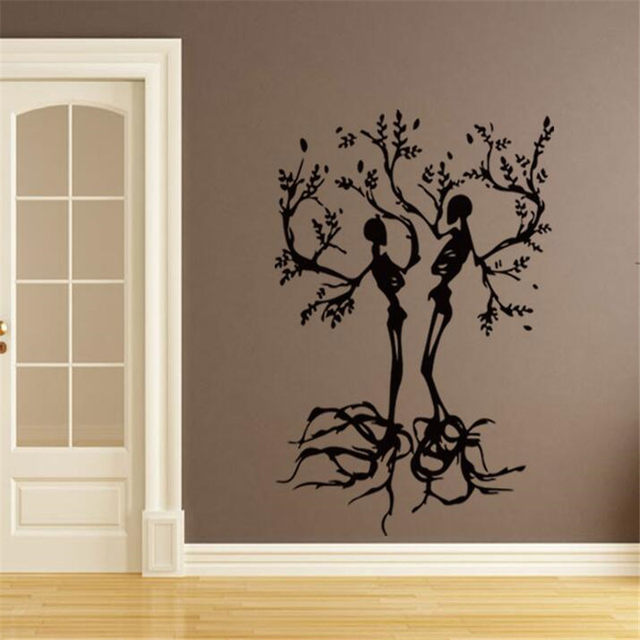 Lovely IDFIAF Free Shipping Conceptual Tree Vinyl Wall Art / Stickers Decals Skull  Tree Halloween Wall Stickers Transfers