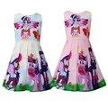 Elegant Dress For Girl Little Pony Children's Dress Rainbow Dress Cute Pony Twilight Sparkle Princess Party Dress Clothes 8Years