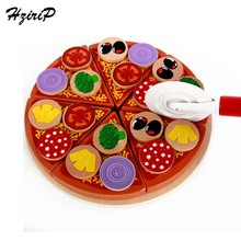 купить HziriP Pizza Food Safety Wooden Kitchen Toys Pretend Play Baby Early Education Food Toy For Kids Girls Boys Birthday Gifts дешево
