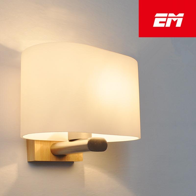 Modern Led Wood Wall Lamp Iron Metal Wall Light Fixtures Living Bedroom Home Lighting Lamparas Vintage