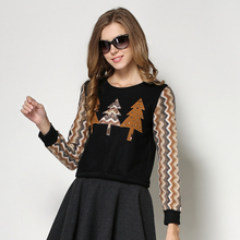 Blouse Casual Knitted 2016 Hitz Long-sleeved Round Neck Bottoming Shirt Black As1480