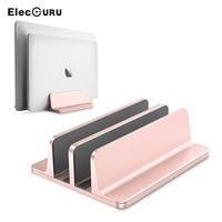 Adjustable Vertical Laptop Holder Stand Aluminium Notebook Mount Desktop Space Saving Support Base for MacBook/Surface/Samsung