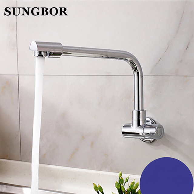 US $52.8 |Single Cold Pot Filler Tap Wall Mounted Kitchen Faucet Chrome  Nickel Brushed / Alba Chrome 2017 Wholesale New Arrival BH 828L-in Kitchen  ...