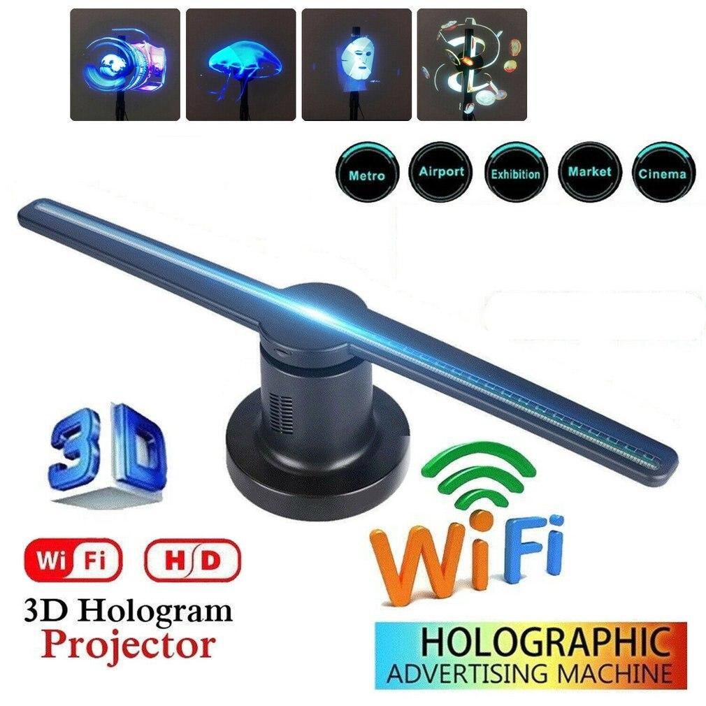 3D LED WiFi holographique projecteur affichage ventilateur hologramme publicité joueur