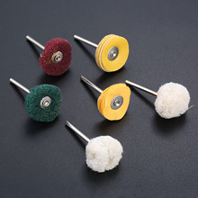 6Pcs 3mm Polisher Buffer Wheel Polishing Buffing Pad Brush For Rotary Drill Bit Electric Grinding Accessories 100pcs cloth polishing wheel buffer pad cotton for buff dremel accessory for jewelry mold cavity medical equipmen antique bronze
