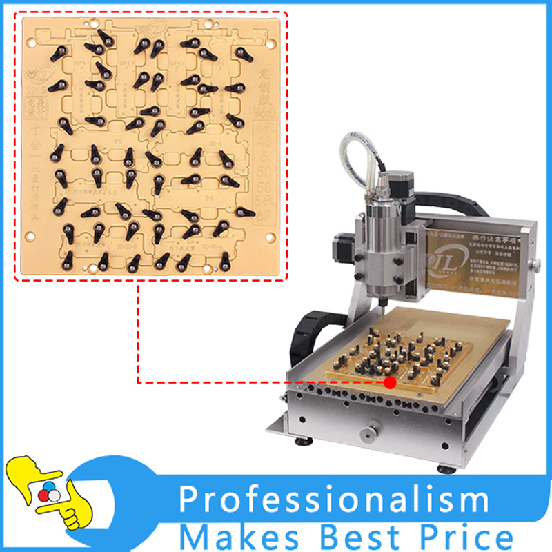 2015 Newest CNC 3040 800W Grind Polishing Milling Engraving Machine for iPhone main Board IC Repair for iphone main board repair ly ic cnc router 3040 mould 10 in 1 cnc polishing engraving machine eu free tax