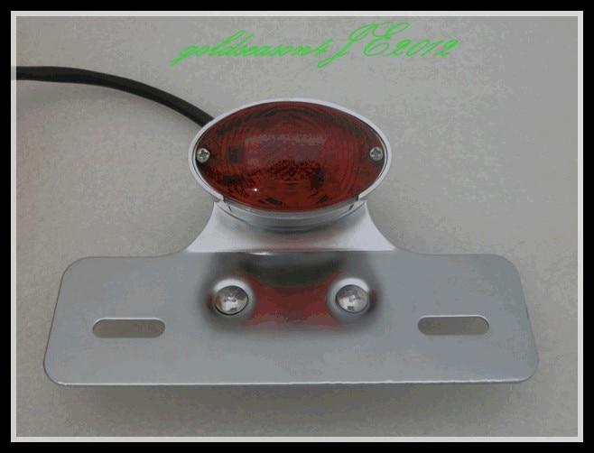 ᗑ】Luz trasera de freno LED Marcos de matrícula soporte para Harley ...