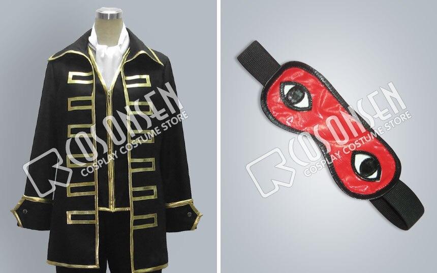 Image 5 - COSPLAYONSEN Gintama Sougo Okita Cosplay Costume Full Set With  Eye Mask All Sizecosplay costumecostume cosplaygintama cosplay  costume