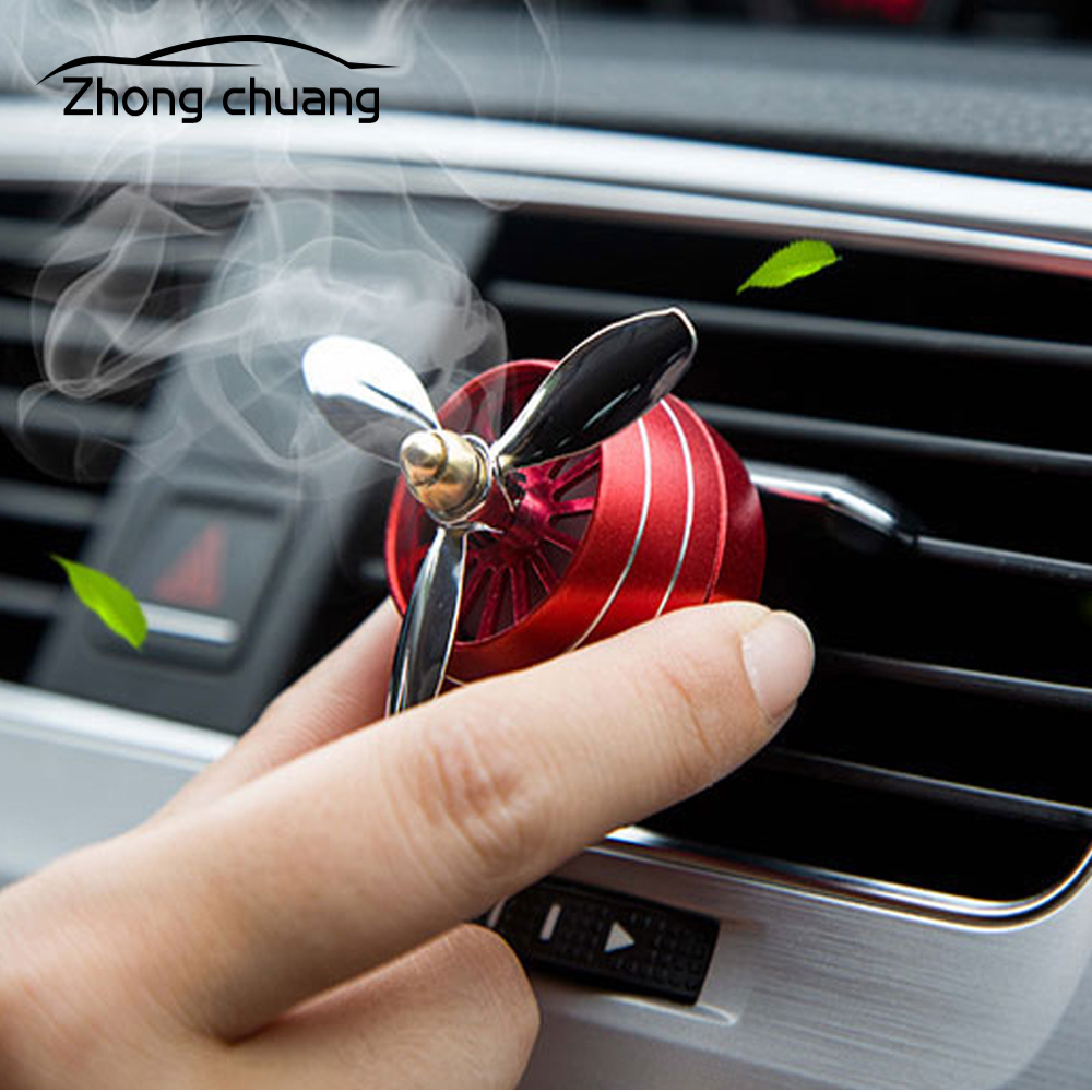 Air freshener car LED mini adjustable perfume clip fresh aromatherapy alloy accessories air outlet