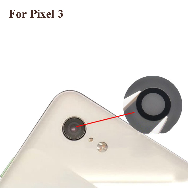 Alta qualidade Para O Google 3 Voltar Câmera Traseira Lente de Vidro peças de Reparo Conserto Pixel bom teste Para O Google Pixel 3 pixel3