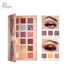 Pudaier Desert Rose Color Change 18 Fish Scale Eyeshadow Palette Pearlescent Matte Eye Shadow Glitter