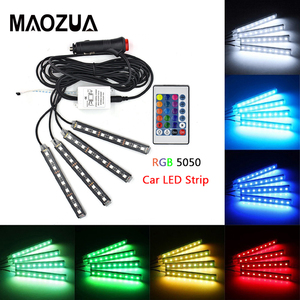 4pcs 12V LED Strip Light Car I