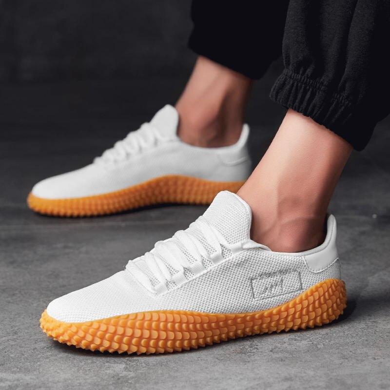 Verano 2019 Otoño Los Transpirable Negro white Zapatos Primavera Hombre  Casuales Tejer Blanco Hombres Y Miubu ... c3f1770309b