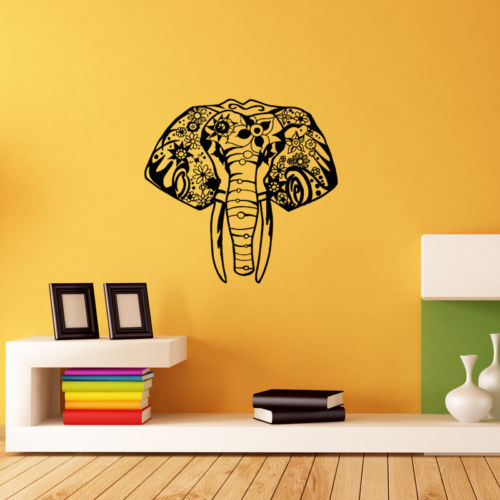 Home Decoration Vinyl Indian Elephant Wall Sticker Decal Elephant ...