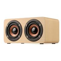 EARVO W5 Wood Boombox Wooden Box Wireless Bluetooth Speaker 10W High Power Subwoofer 2000mAh Battery Support