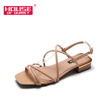 Fashion Open-toed Women Sandals Square Head Cool Comfortable Women Pumps Indoor