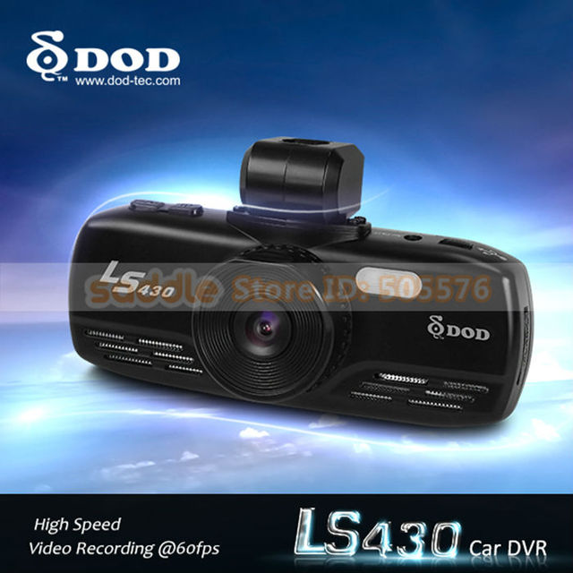 100% Original DOD LS430 Car DVR Recorder with Russian + 1080P 30FPS + GPS Logger + TS + GPS Over Speed Warning + G-Sensor