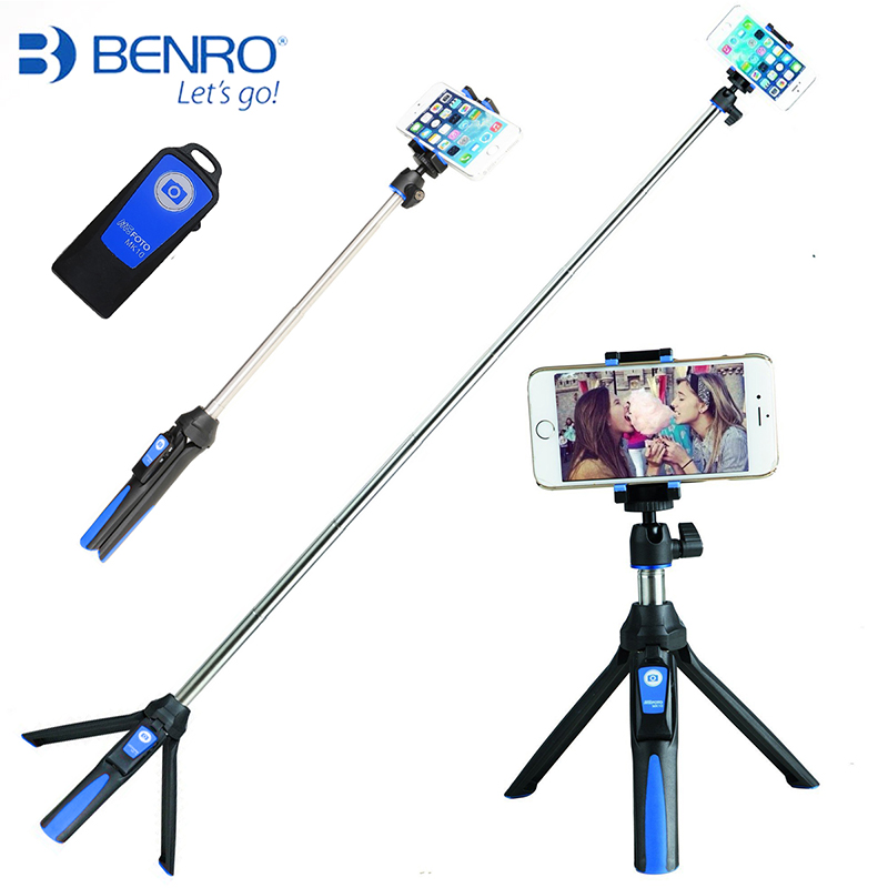 BENRO MK10 33inch Handheld Tripod Selfie Stick Bluetooth Remote Extend Monopod Tripod for Xiaomi Samsung Gopro Hero Android