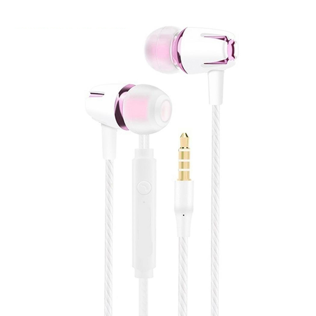 Unterhaltungselektronik Ohrhörer Und Kopfhörer Verantwortlich Universal 3,5mm In-ohr Stereo Ohrhörer Kopfhörer Super Bass Stereo Musik Headset Mit Mic Für Handy Ruf Zuerst