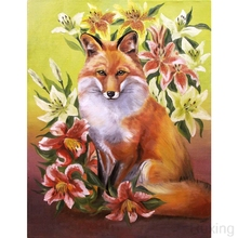Full square Diamond embroidery 5D DIY Diamond painting Painting fox and flower Cross stitch full Round Diamond mosaic decoration full square diamond embroidery 5d diy diamond painting painting fox and flower cross stitch full round diamond mosaic decoration