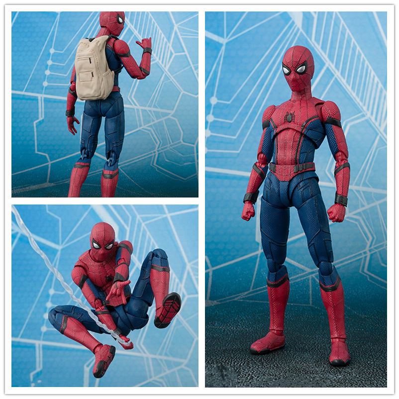15cm BJD Spider-man Figure Marvel Spider Man Home coming Super Hero Iron Spider Model Figures Toys холодильник pozis rs 411 w