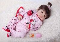 55cm Full Silicone Bebe Reborn Baby Girl Realistic 22 Vinyl Newborn Baby Toddler Doll Bedtime Toy Waterproof Body Bathe Toys