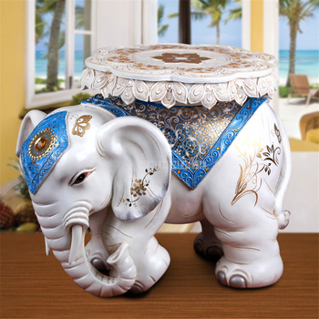 Modern European Style Lucky Elephant Stool Living Room Decoration Shoes Change Bedroom Decorative Ottoman Stool Wedding Gift
