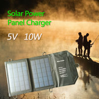 Solar Charger 5V10W Outdoor Sunpowefoldable Mobile Solar Charge For IPhone IPad HTC SAMSUNG For Camping Climbing