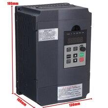 1 adet Tek Fazlı Değişken Inverter 2.2KW 3HP Frekans Sürücü Inverter VSD VFD PWM Kontrolü 195*130*100mm Için Motor Hız Kontrol