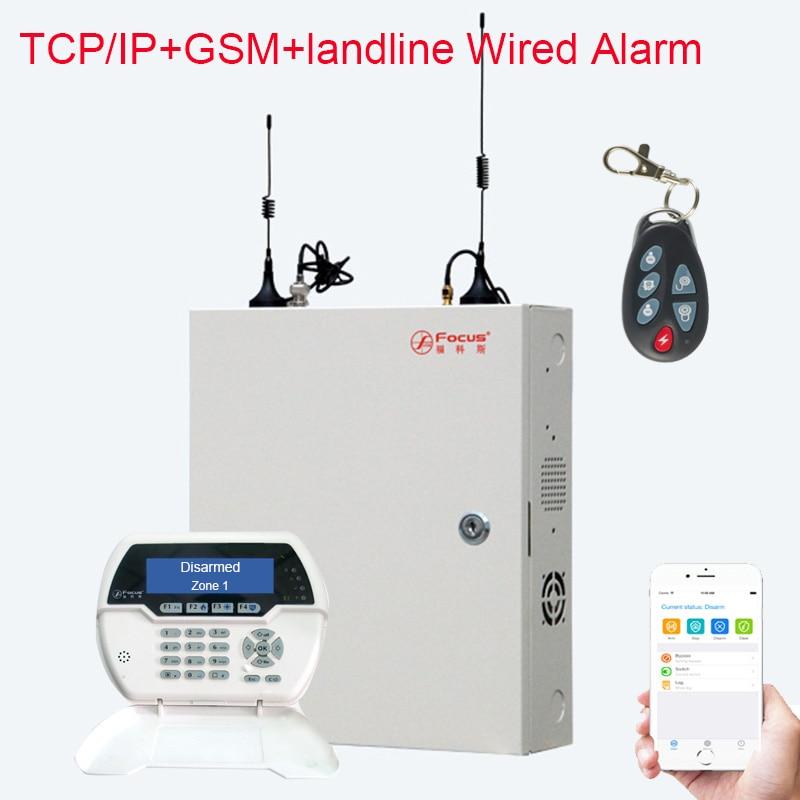 Focus FC-7688 Wired Security Alarm System 8+88 Wired Zones 32 Wireless Zones 4G GSM+landline+LAN Port IP Wired Security System