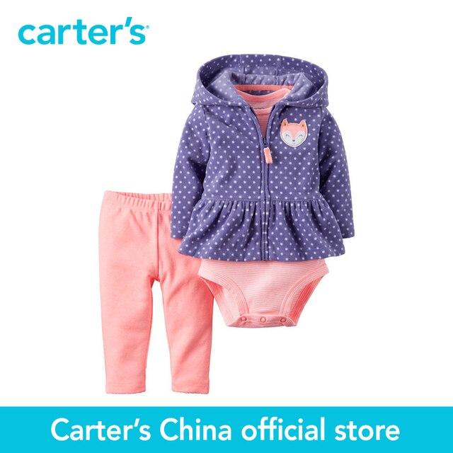 Картера 3 шт. детские дети дети Неоновые Кардиган Набор 121H014, продавец картера Китай официальный магазин