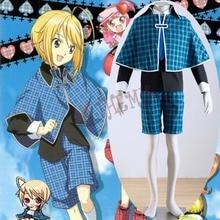 Athemis Cosplay Outfits Shugo Chara Hotori Tadase Unique Blue Tartan Design Fashion School Uniform with Tippet