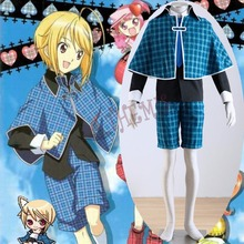 Athemis Cosplay Outfits Shugo Chara Hotori Tadase Unique Blue Tartan Design Fashion School Uniform with Tippet and Tie Unisex