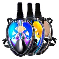 2018 Adults Children Snorkeling Set Anti fog anti UV Diving Full Dry Snorkel Swimming Mask Full scale Mirror Equipment