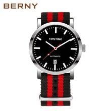 BERNY Automatic Mechanical Watches Men Waterproof Classic Au