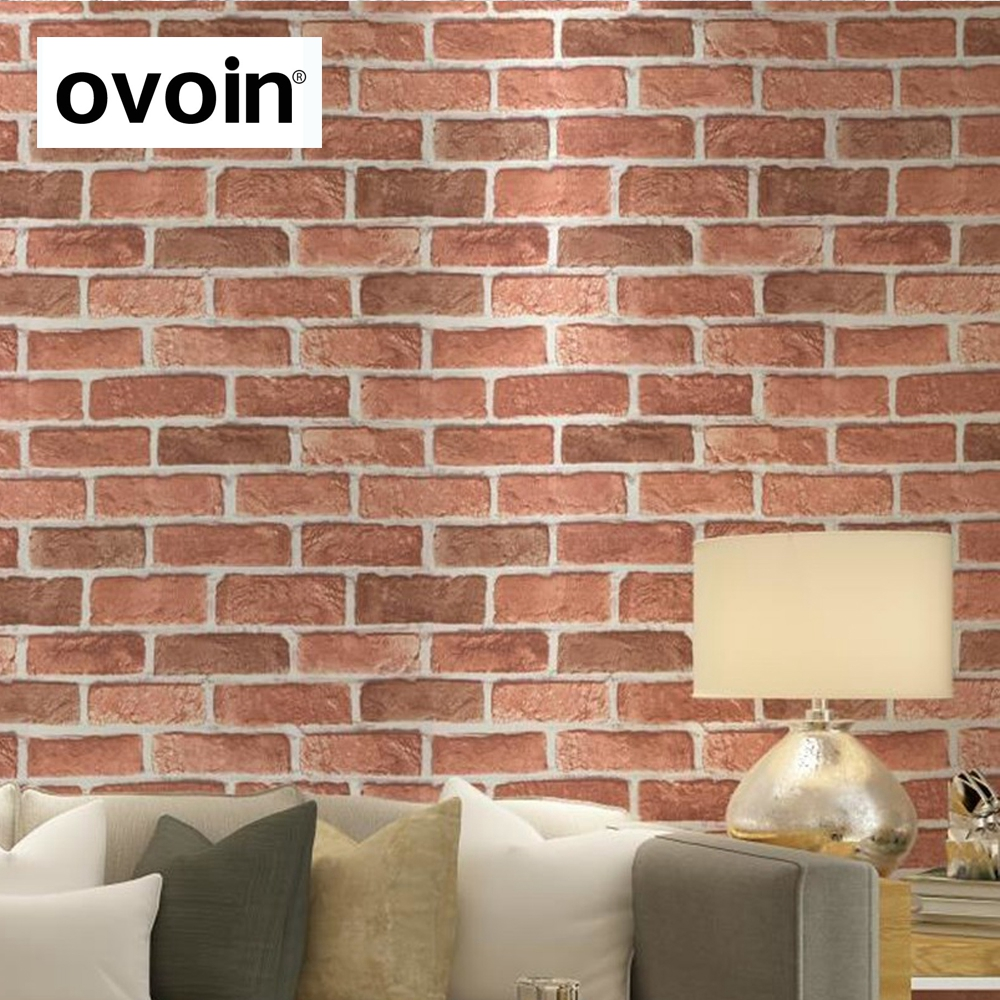 Buy antique embossed textured red brick for Cheap brick wallpaper