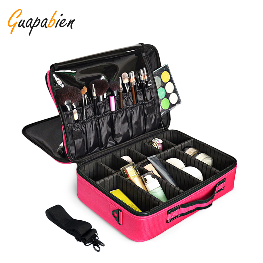 Guapabien Cosmetic Bag Case For Travel Ladies Pouch Women Cosmetic Bag Organizer Toiletry Large Capacity Storage Makeup Bag