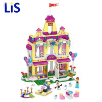 390pcs New Model Building Blocks Princess Anna And Prince Of Ice Castle Compatible Friend Toys For
