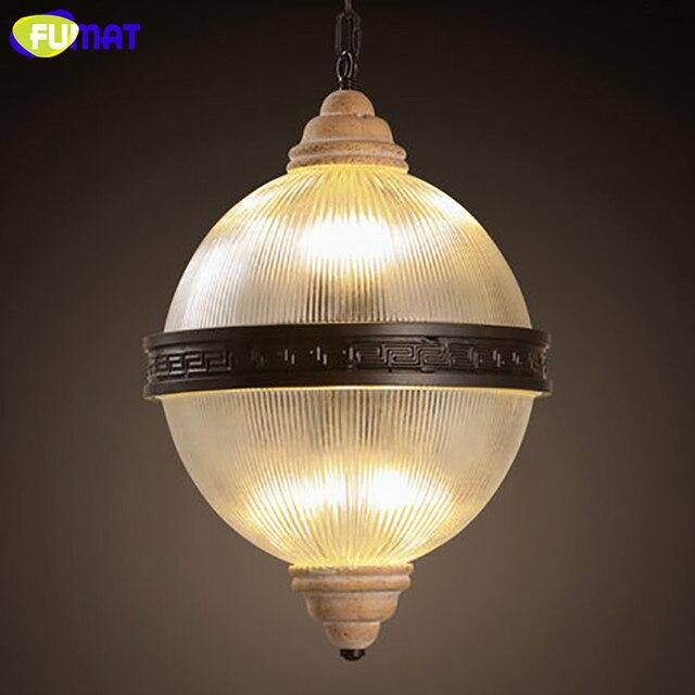 FUMAT Modern Pendant Light Frosted Glass Lampshade Hanging Globe Lamps  Dinning Room Globe Pendant Light E14
