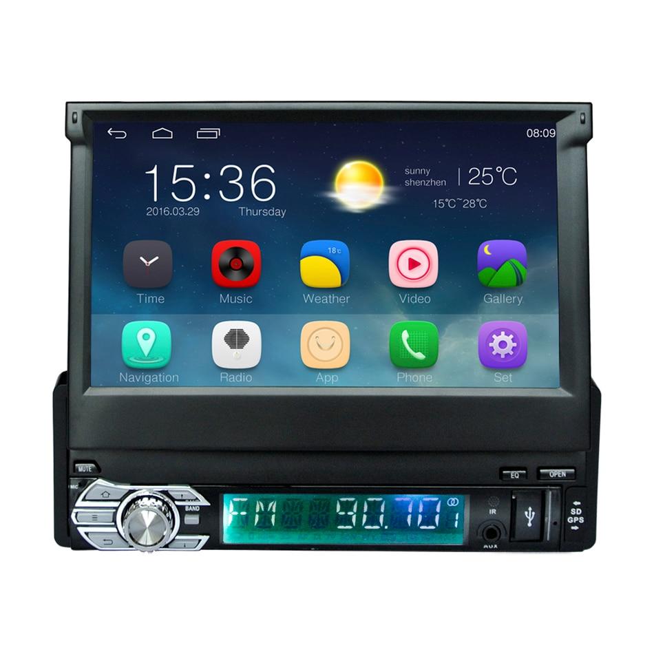 Android 6.0 Универсальный 1 Дин видео плеер GPS навигации в тире выдвижной экран 1 Дин Радио стерео с Bluetooth 3G