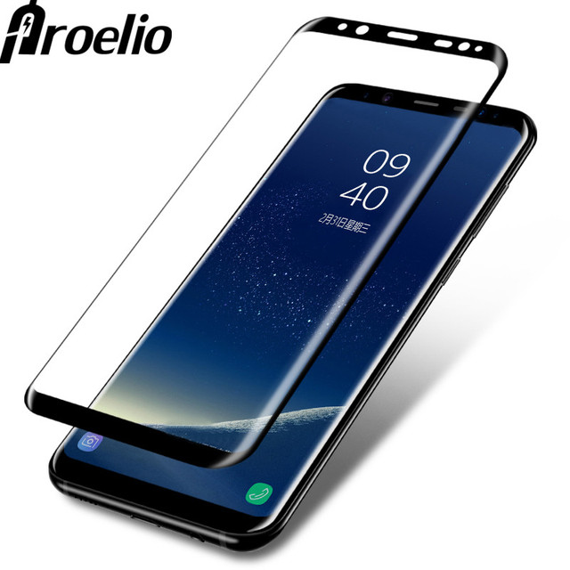 proelio 3d curved full tempered glass for samsung galaxy s8 s9 s7 s6 edge plus screen protector. Black Bedroom Furniture Sets. Home Design Ideas